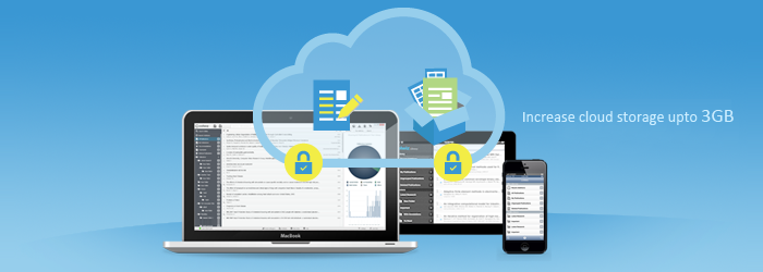 We are excited to announce up to 3GB Free Cloud Storage