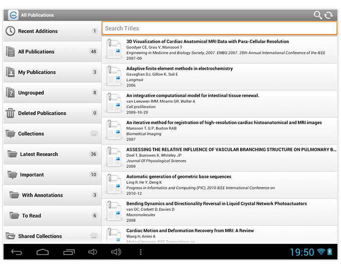 android tablet application for colwiz
