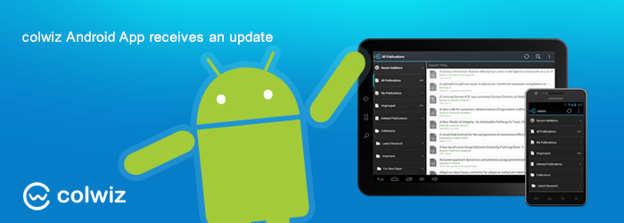 colwiz Android application has been updated