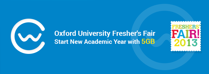 Boost your Research Productivity: 5GB Free at Oxford Fresher's Fair to Celebrate the New Academic Year