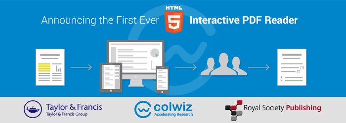 colwiz launches the first HTML5 Interactive PDF Reader in collaboration with Royal Society Publishing and Taylor & Francis