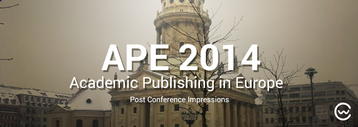 colwiz Goes APE – Our Visit to the Academic Publishing in Europe (APE) Conference