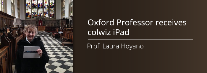 Our third iPad winner, Prof. Laura Hoyano, takes her research mobile with colwiz