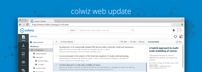 colwiz web updated (Part 1/3) – New online reference library
