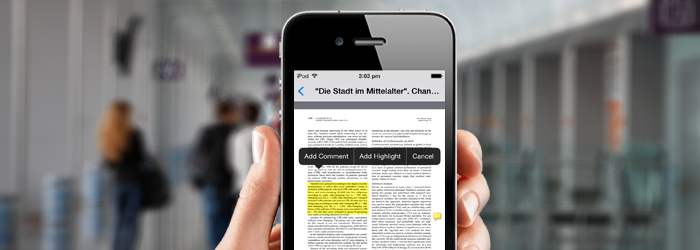 New Feature: Annotate PDFs from your iOS device!
