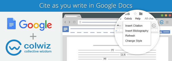 Write and Cite Collaboratively On Google Docs Through Colwiz